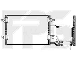 Радиатор кондиционера AUDI_A6 97-00 SDN / 98-00 AVANT (C5)/A6 01-05 SDN / AVANT (C5)