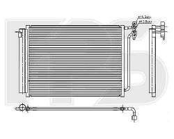 Радиатор кондиционера BMW_X5 (E53) 00-06