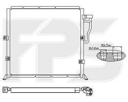 Радиатор кондиционера BMW_3 (E36) 90-99