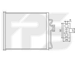 Радиатор кондиционера BMW_7 (E38) 94-02