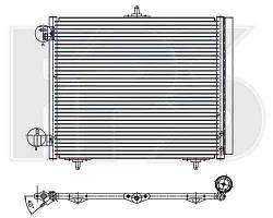Радиатор кондиционера Citroen C2, C3, Peugeot 207 (02-12) (NRF)