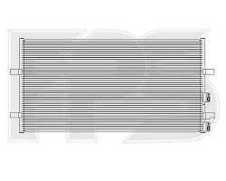 Радиатор кондиционера FORD_TRANSIT 06-13