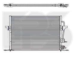 Радиатор кондиционера FORD_MONDEO 97-00