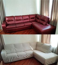 Пошив защитного чехла на угловой диван