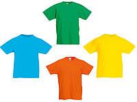 Детские футболки однотонные Fruit of the Loom Kids Valueweight T