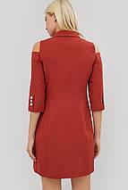 Полуприталенное двубортное платье с отложным воротником (Evida crd), фото 3