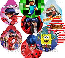 Медальки картонные с героями из мультфильмов_ большие (10шт./уп.) -малотиражные издания-