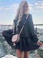 Платье женское короткое с оборками свободного кроя P10515, фото 1