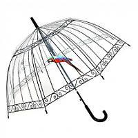 Прозрачный зонт с попугаем Birdcage Umbrella