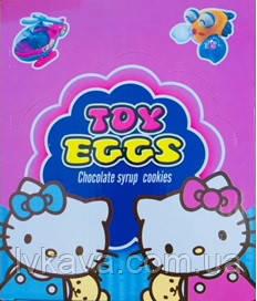 Яйцо-игрушка Hello Kitty c печеньем в глазури, 15 g X 24 шт, фото 2