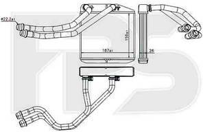 Печка FIAT_DOBLO 10-15, OPEL_COMBO 12-