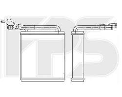 Радиатор печки HYUNDAI H-100 95-00