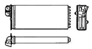 Радиатор печки OPEL MOVANO 98-03, RENAULT MASTER 98-03