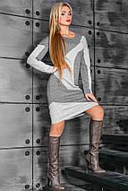 Двухцветное ангоровое платье по фигуре (2370-2371-2369 svt), фото 2