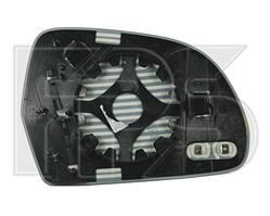 Вкладыш зеркала правый с обогревом хром 2008- A8 2002-10