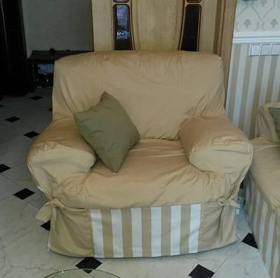 Пошив чехла на кресло