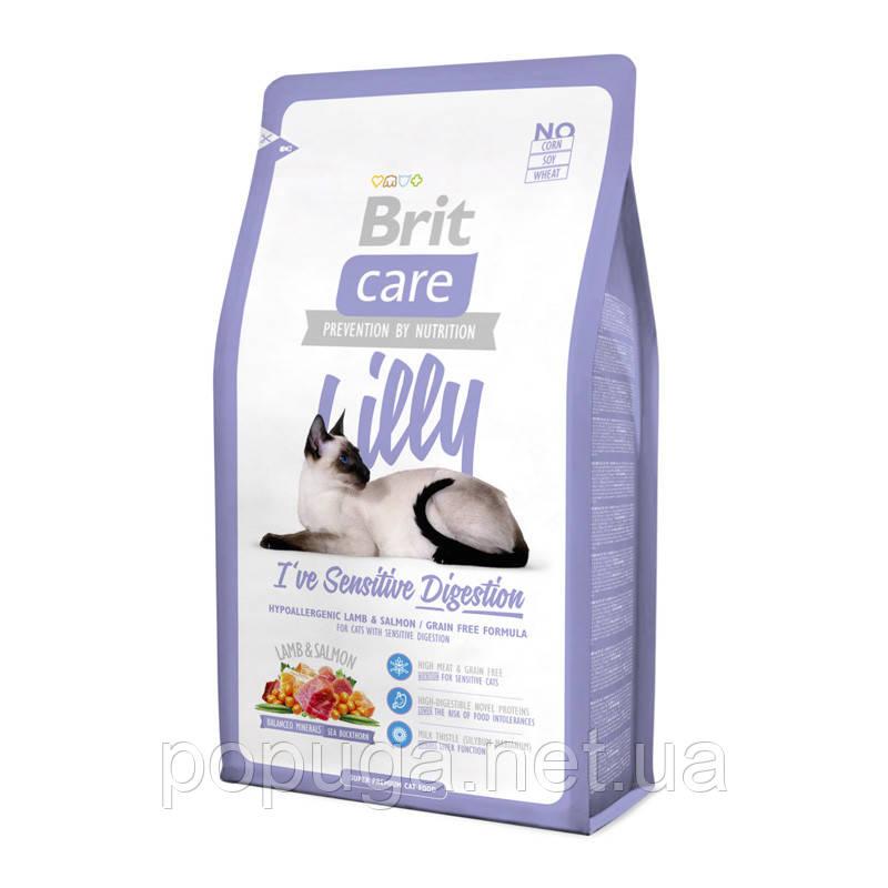 Корм Brit Care Cat Lilly I have Sensitive Digestion для кошек с чувствительным пищеварением, 400 г