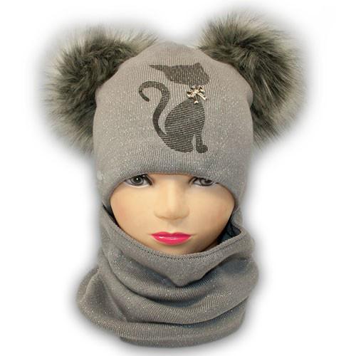 детская шапка и шарф хомут
