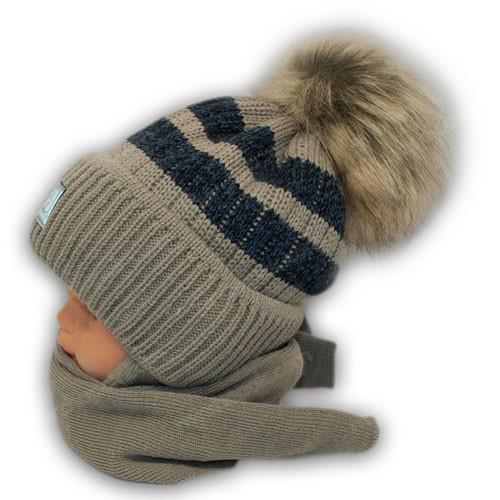 Шапка и шарф для мальчика