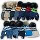 ОПТ Шапка и шарф хомут для мальчика, р. 44-46 (5шт/набор), фото 8