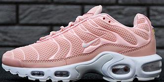Женские кроссовки Nike Air Max Tn Plus Pink, найк аир макс тн розовые