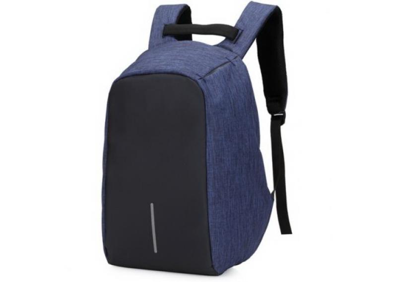 54443a05929b Рюкзак Антивор BOBBY Синий с защитой от карманников + USB-порт для зарядки.