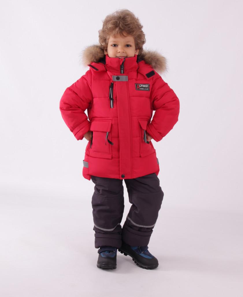 Детский зимний комбинезон для мальчика Кико 5015,  92-122
