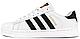 Кроссовки мужские Adidas Superstar White/Black/Gold, адидас суперстар, реплика, фото 2