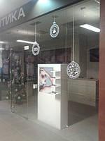 """Новогоднее оформление сети магазинов """"Еврооптика"""" г.Одесса."""