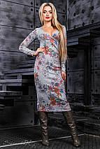 Вязаное женское платье с глубоким декольте (2374-2373-2372 svt), фото 3