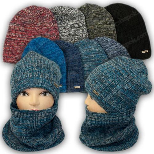 ОПТ Комплект для мальчика - шапка шарф хомут, р. 52-54 (5шт/набор)