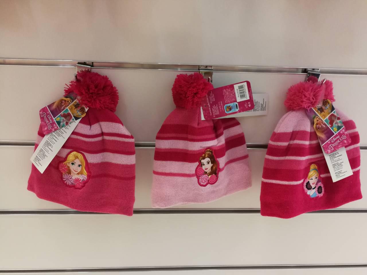 Шапки для девочек Disney 52-54 см.