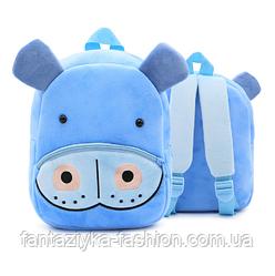 Рюкзак детский плюшевый бегемотик