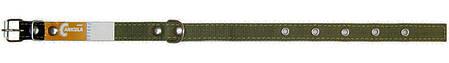 Ошейник двойной 35 мм х 690 мм брезентовый / усиленный с кольцом / двухслойный / ошийник для собак ТМ Canicula, фото 2