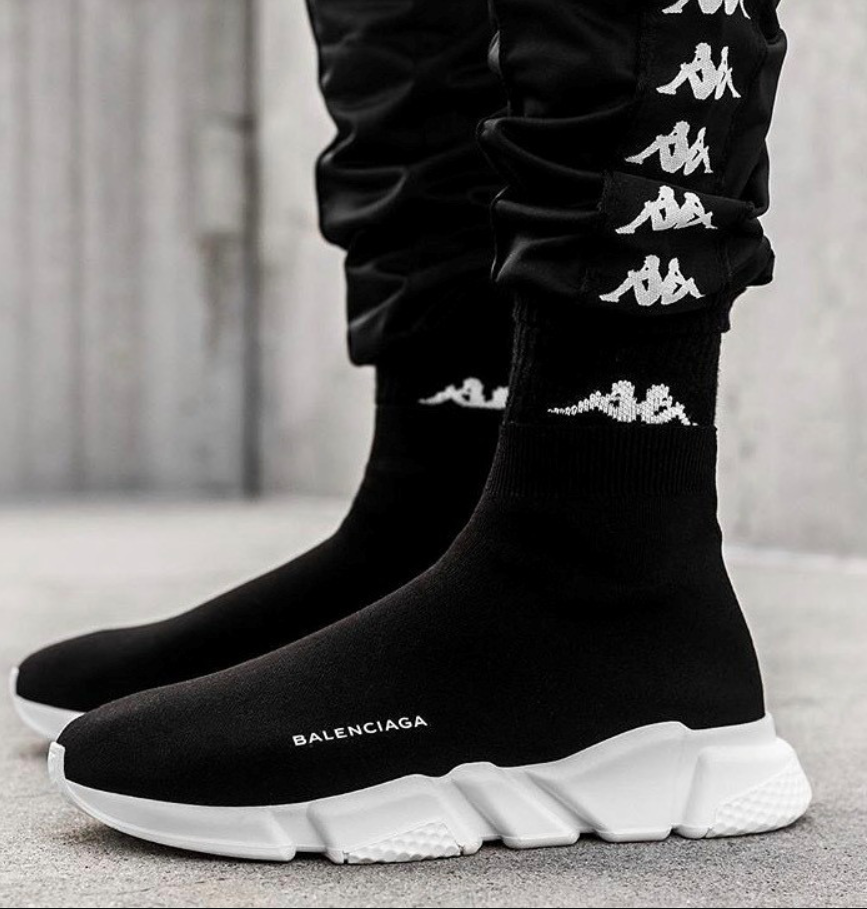 Мужские кроссовки Balenciaga Speed Trainer Black White