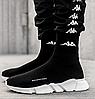 Мужские кроссовки Balenciaga Speed Trainer Sock Black/White, реплика