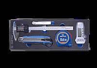 Набор измерительных инструментов, ложемент, 5 предметов