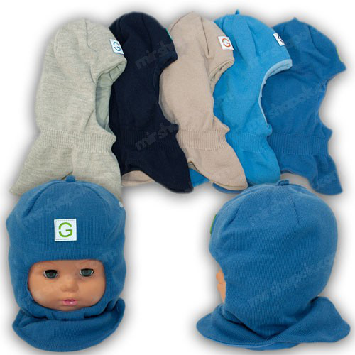 ОПТ Шапка - шлем (капор) для мальчика, р. 44-46 (5шт/набор)