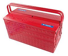 Ящик переносной для инструмента металлический красный 470x220x260mm