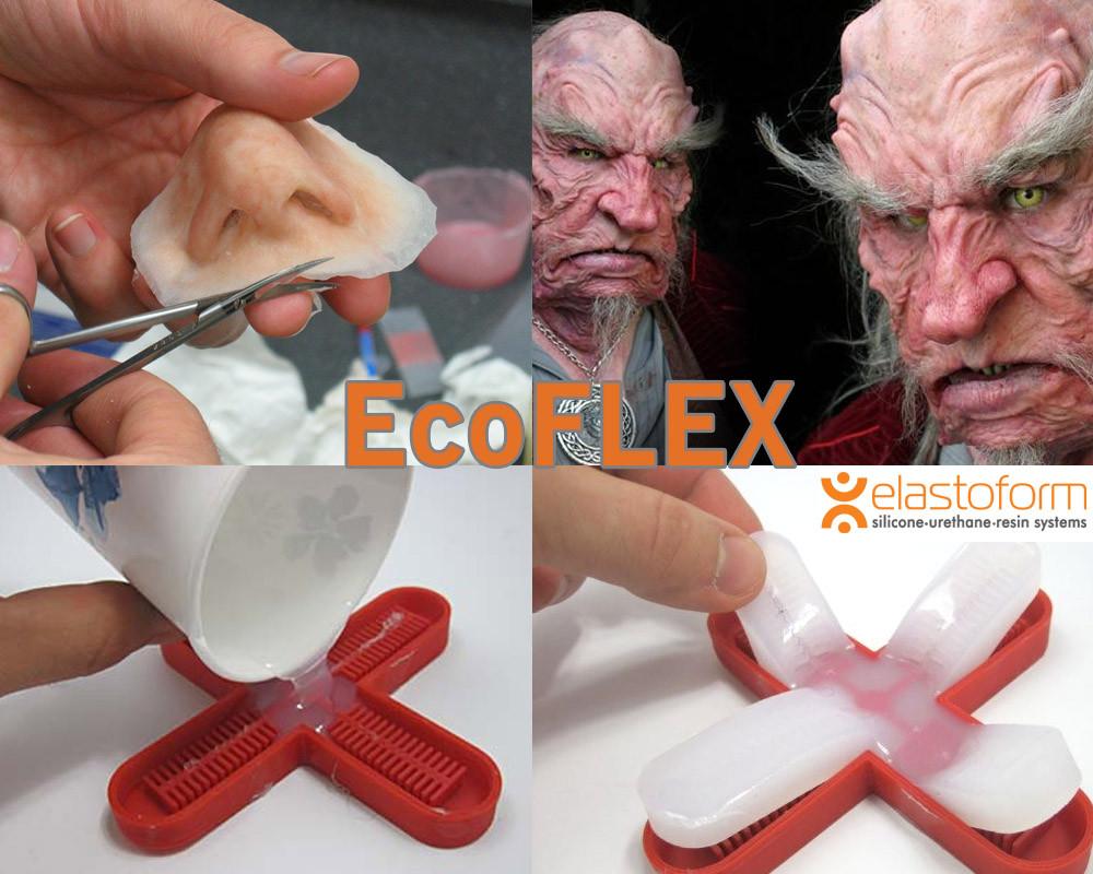 Ecoflex0-50 Экофлекс очень мягкий, полупрозрачный,очень высокоэластичный силикон (США). Пробник 0,9 кг