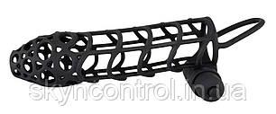 Насадка для пениса с вибрацией Black Velvets Sleeve Plus Vibrator, фото 2