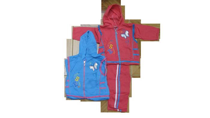 Спортивная тройка костюм на девочку 100% полиэстер (в ростовке 4