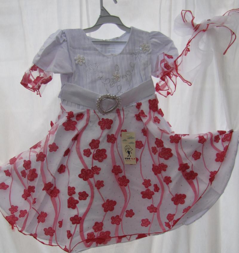 Платье с ленточкой для волос    (в ростовке 1шт.)