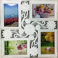 Фоторамка коллаж на 4 фото Цветок