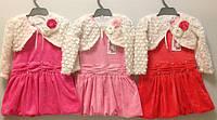 """10. Платье с болеро """"Велюровое"""" на 2-4 года, в рост. 3 шт."""