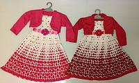 Платье с болеро Плиссир горох, на 6,8,10,12 лет в рост. 4 шт.