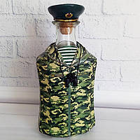 Сувенирная бутылка в подарок пограничнику Сувениры военной тематики, фото 1