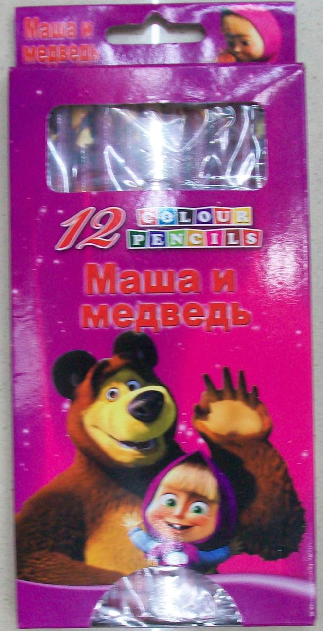 """Цветные карандаши """"Маша и Медведь"""" (JQ8012)"""