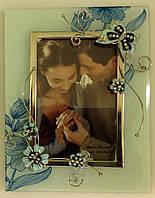 """Рамка """"Цветочки с бабочкой"""", матовая, 10х15"""