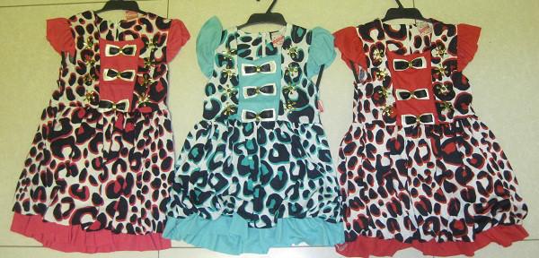 """Платье с болеро  """"Леопард бантики"""" на 3,4,5 лет, в рост. 2 шт."""